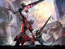 игры - lineage - битва, доспехи, дроу, меч, эльф
