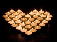 настроение - любовь - свечи, сердце
