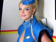 девушки - бритни спирс - серьги, стюардесса, униформа